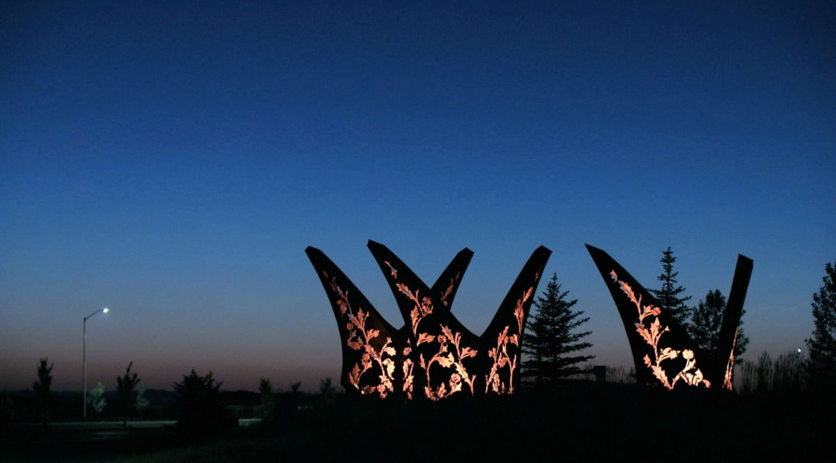 Public art installation called Cultivate in the community of Harmony .