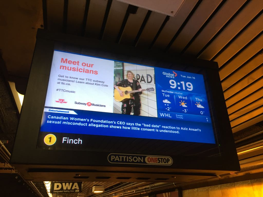 Global News content will now be seen on the TTC Network's 436 screens which delivers news and weather updates to over six million people a week.