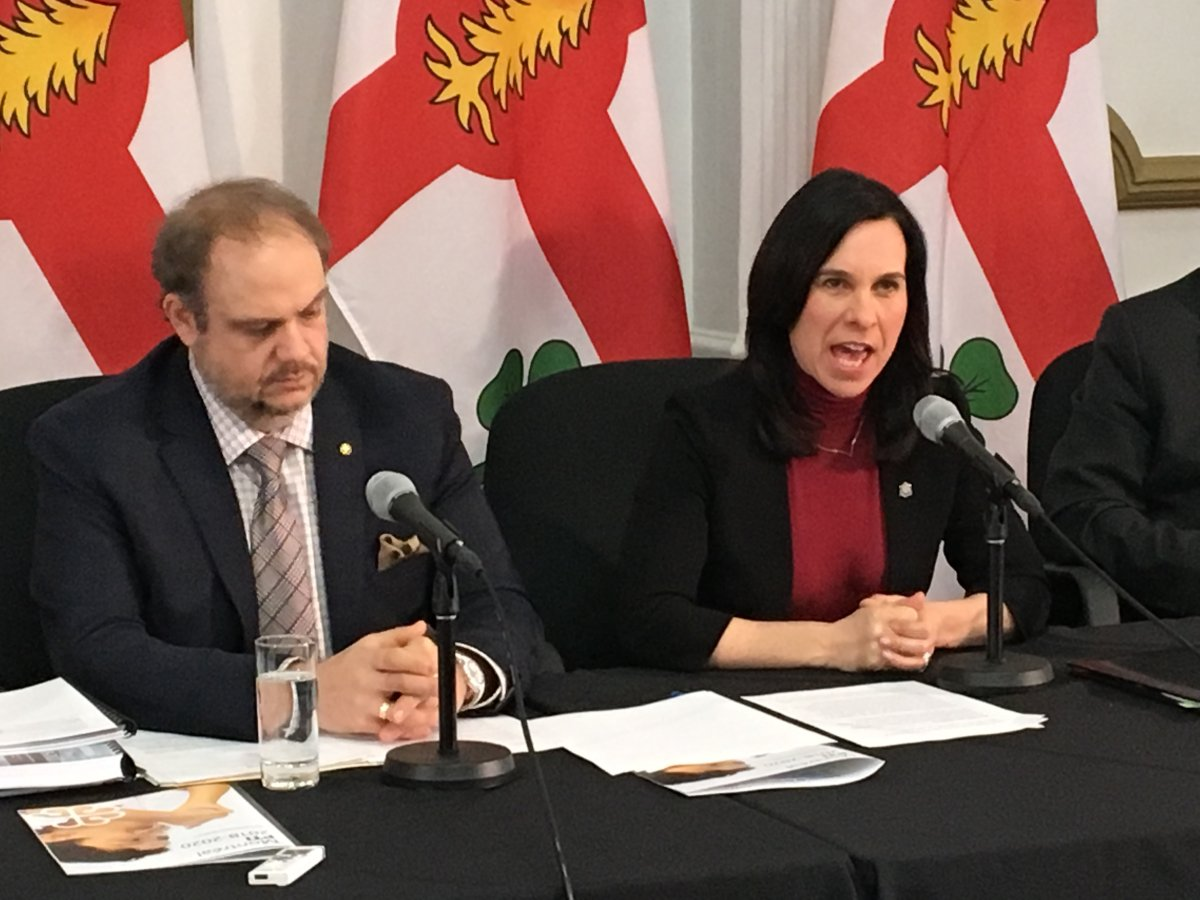 Montreal executive committee president Benoit Dorais and Mayor Valérie Plante releasing the capital works budget on Wednesday, Jan. 31, 2018.