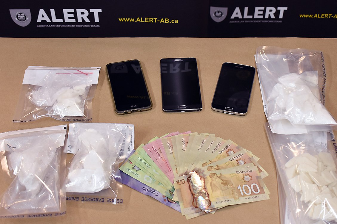Three people are facing charges after a drug bust in Grande Prairie, Alta. on Jan. 5.