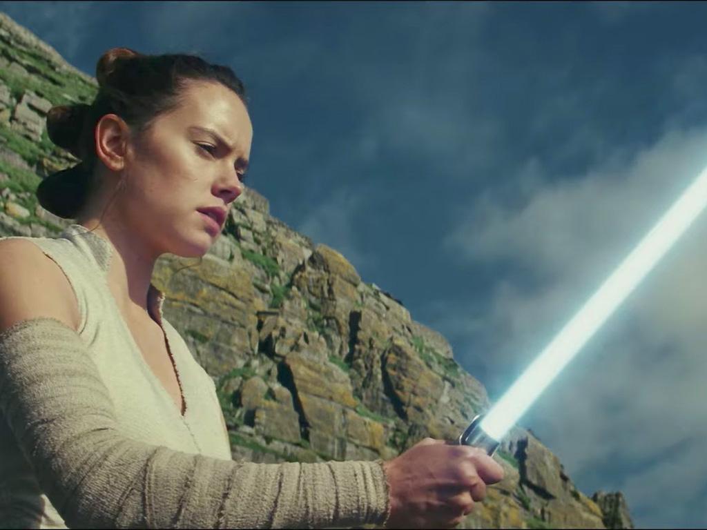 Daisy Ridley stars as Rey in 'Star Wars: The Last Jedi.'.