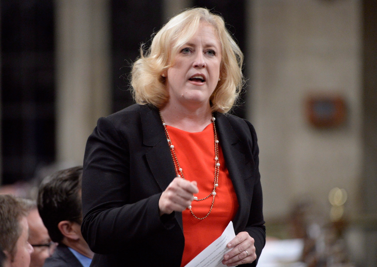 Conservative MP Lisa Raitt asks a question during Question Period in the House of Commons on Parliament Hill in Ottawa on Thursday, Nov. 23, 2017.
