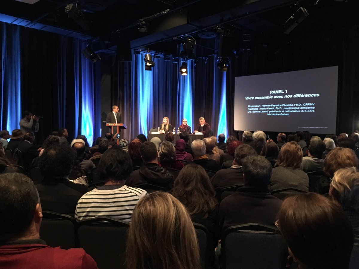 A panel discussion was the first of a number of events over four days to commemorate the one-year anniversary of the Quebec City mosque shooting. Friday, Jan. 26, 2018.