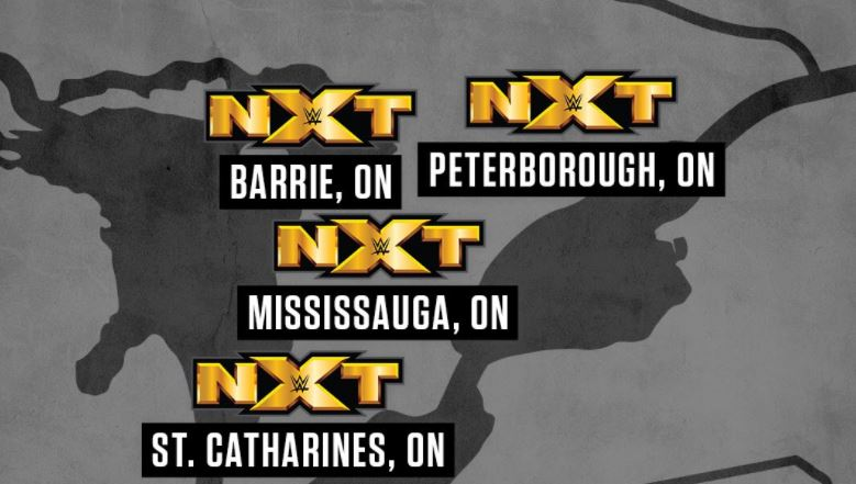 Peterborough is among the cities for WWE NXT's upcoming tour.