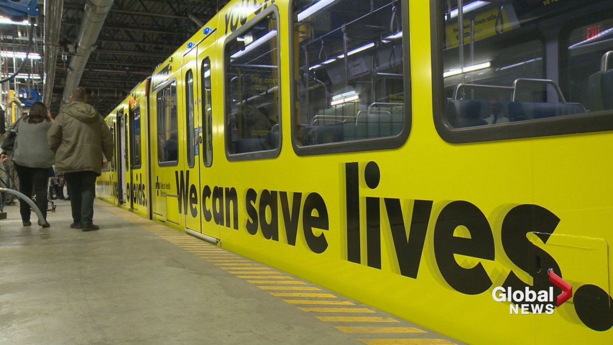 A new Alberta opioid awareness campaign will be featured on trains in Calgary and Edmonton, as well as other visible places across the province.