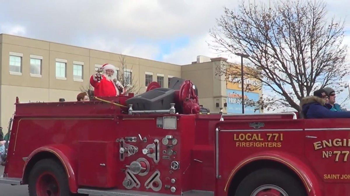 File -A Santa Claus parade.
