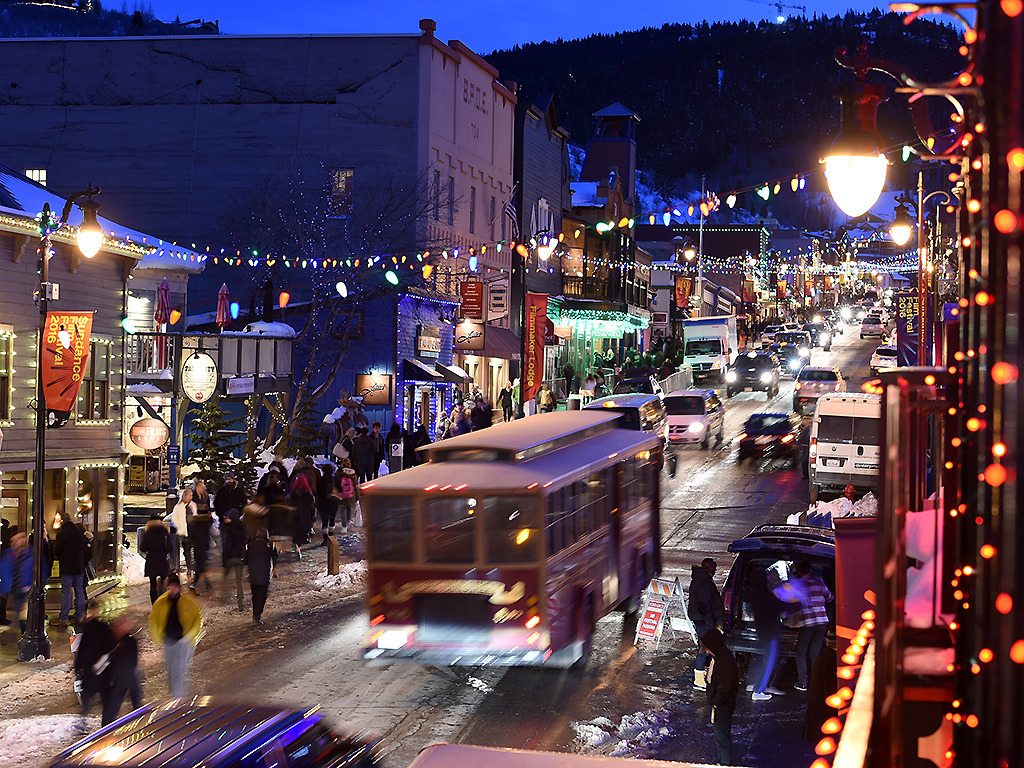 A view of Main St. during 2016 Sundance Film Festival on January 22, 2016 in Park City, Utah.