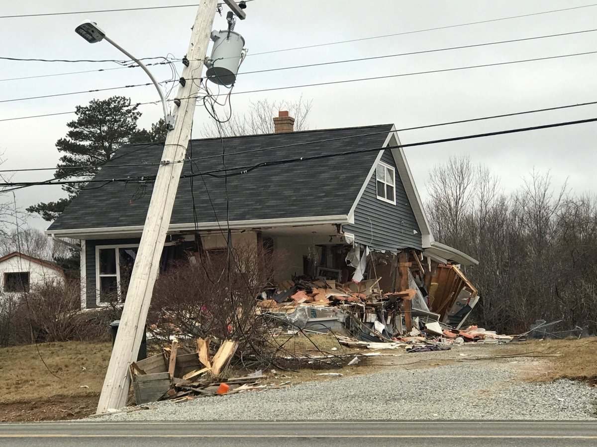 """Cape Breton Regional Police say a home in North Sydney suffered """"significant property damage"""" from a front-end loader early Monday morning. The driver has been taken into police custody."""