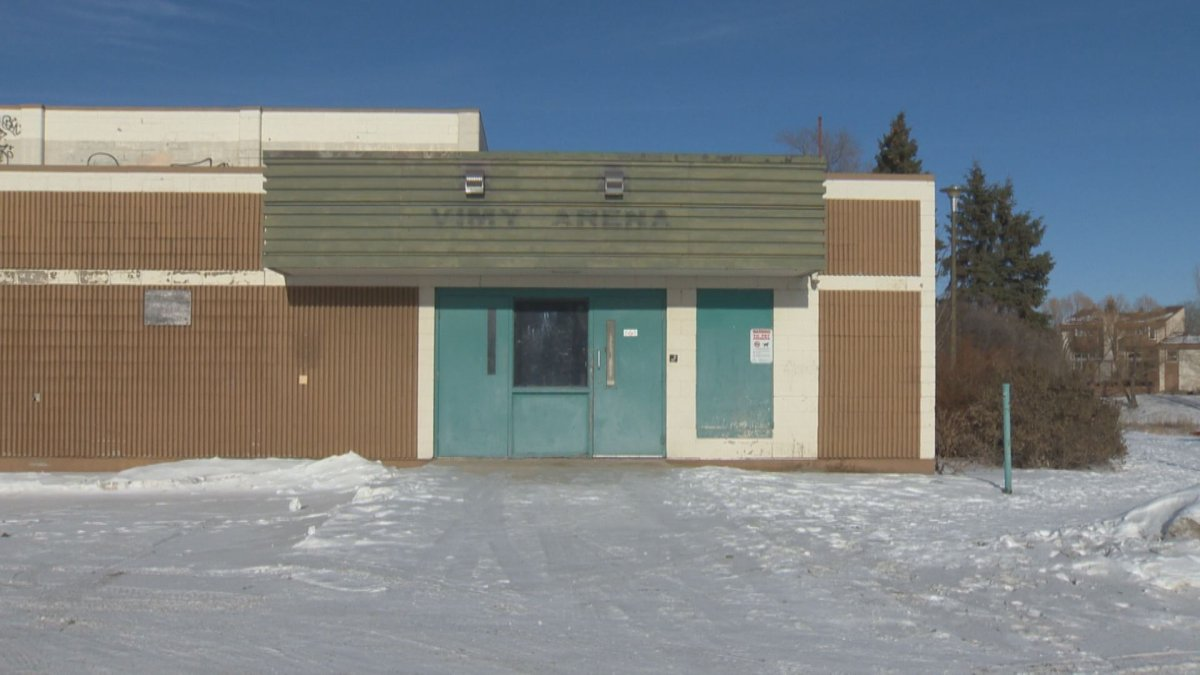 The old Vimy Arena in Crestview is the proposed site for a new addictions treatment centre for Winnipeg.