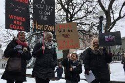 Continue reading: In pictures: Women, men, young and old take part in Halifax women's marches