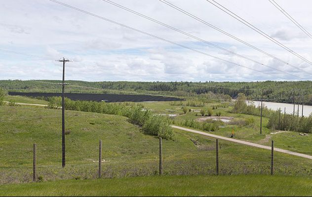 Renderings of the solar farm in the Edmonton river valley.