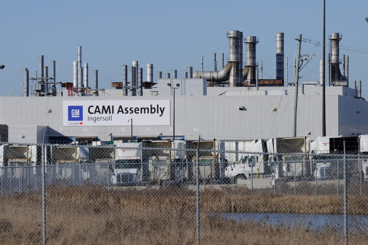 General Motors CAMI Assembly plant in Ingersoll, Ont.