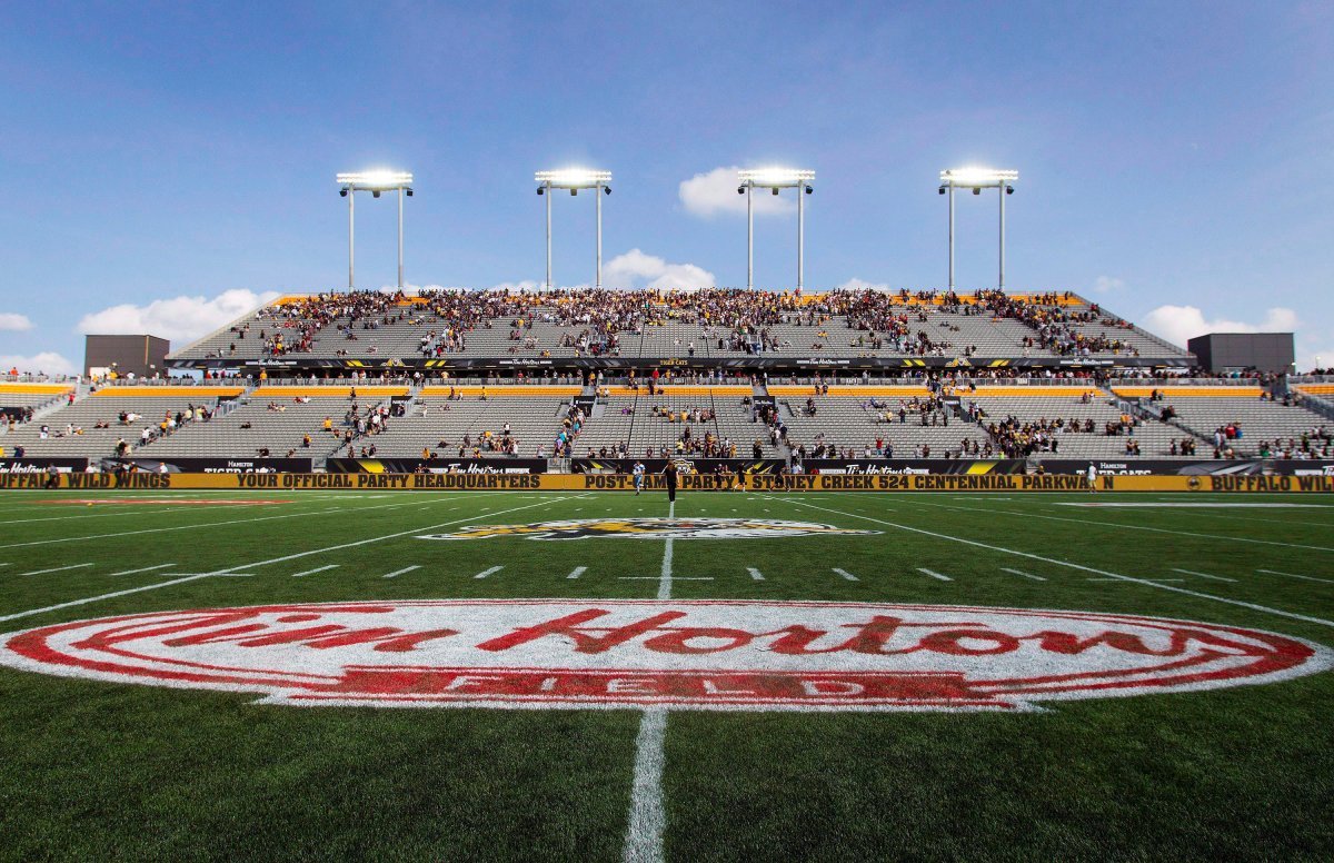 Tim Hortons Field in Hamilton is shown in a file photo.