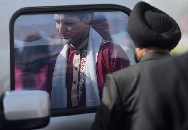 Prime Minister Justin Trudeau arrives in Ahmedabad, India, Feb. 19, 2018.