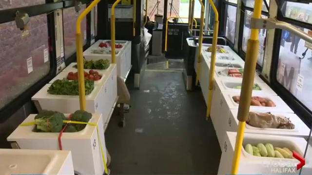 Halifax's Mobile Food Market, which offers residents a chance to shop for healthy food on a city bus that's been fitted as a store, has been recognized with an award.