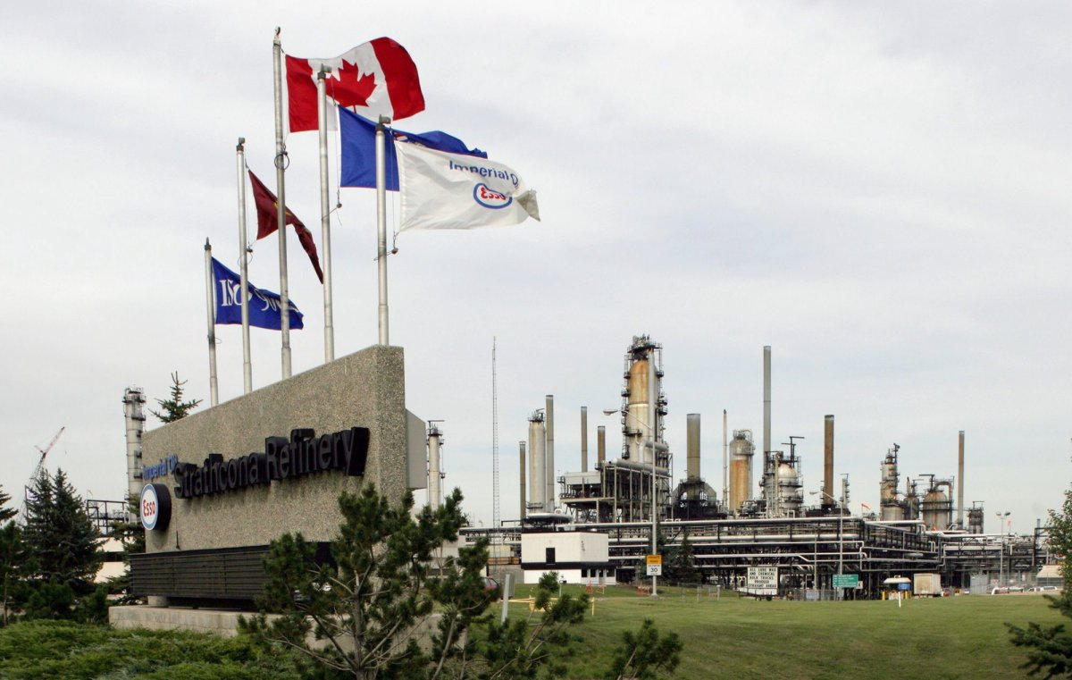 FILE — Imperial Oil's Strathcona Refinery is pictured near Edmonton on Friday Sept. 2, 2005.