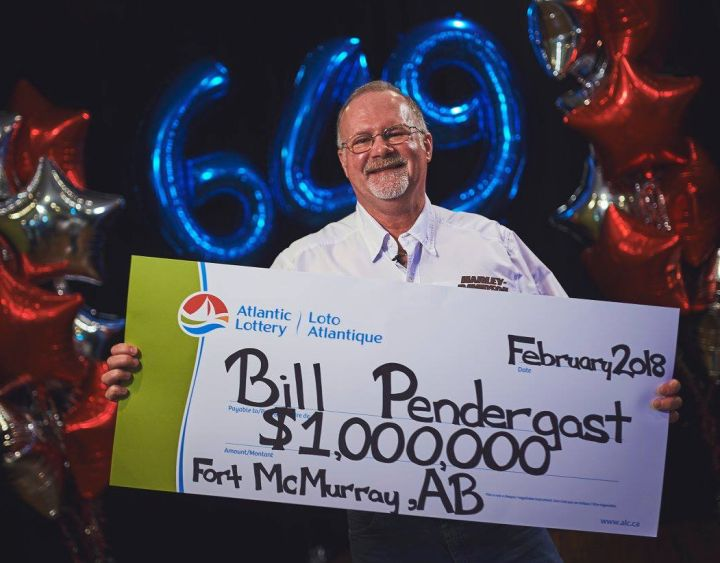 Bill Pendergast, a Fort McMurray man, bought a winning Lotto 649 ticket while visiting his ailing father in Newfoundland. He says he and his wife plan to use their $1 million prize to finish rebuilding their home after the 2016 wildfire.