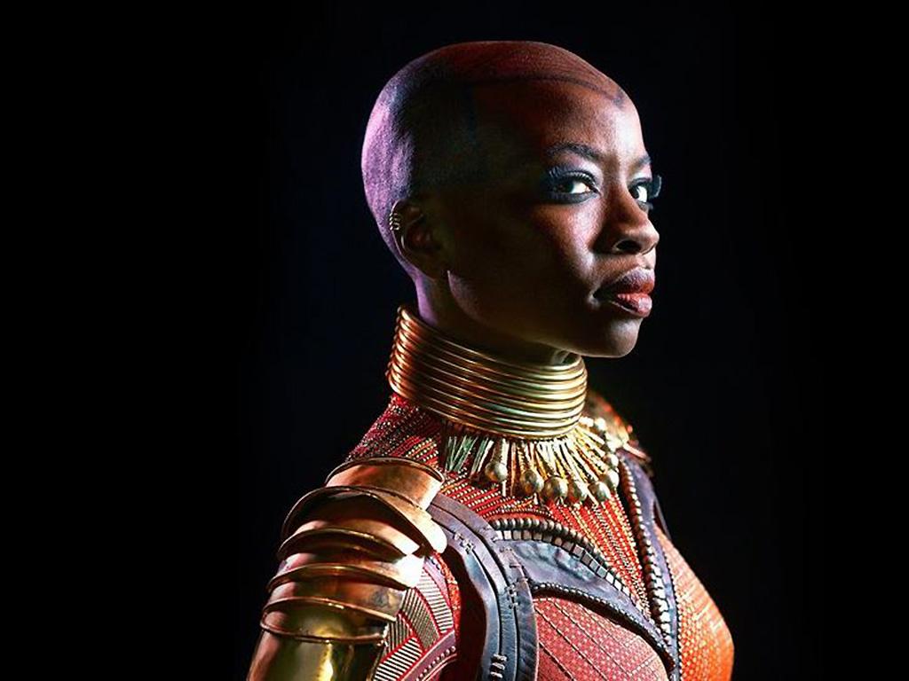 Danai Gurira stars as Okoye in Marvel/Disney's 'Black Panther.'.