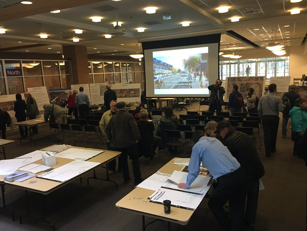 Londoners attend a BRT open house at the London Public Library's Central branch on Feb. 28, 2018.