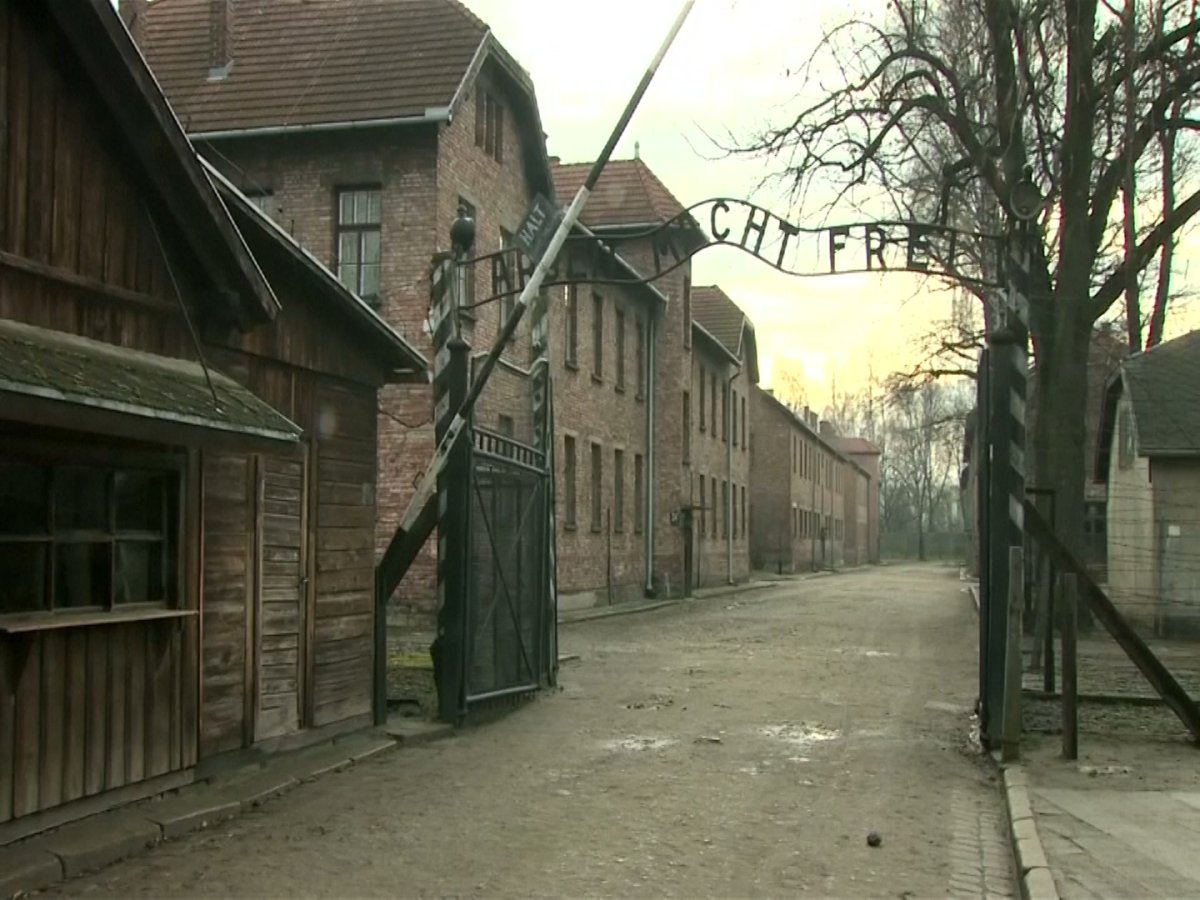 The former Nazi death camp Auschwitz is pictured on Saturday, Jan. 27, 2018.