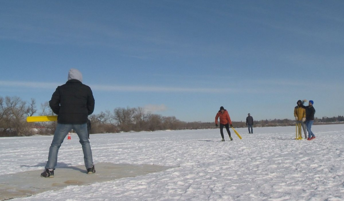 It's a sport typically played in the summer, but snow cricket has become a feature at Waskimo Winter Festival.
