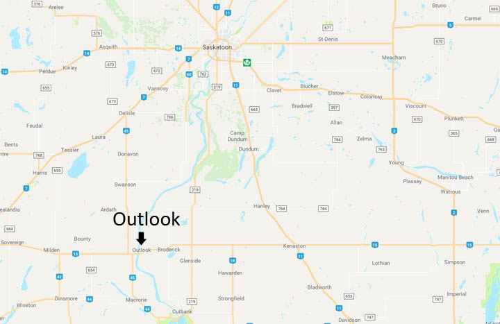 A 57-year-old man is dead after a single-vehicle rollover south of Outlook, Sask.