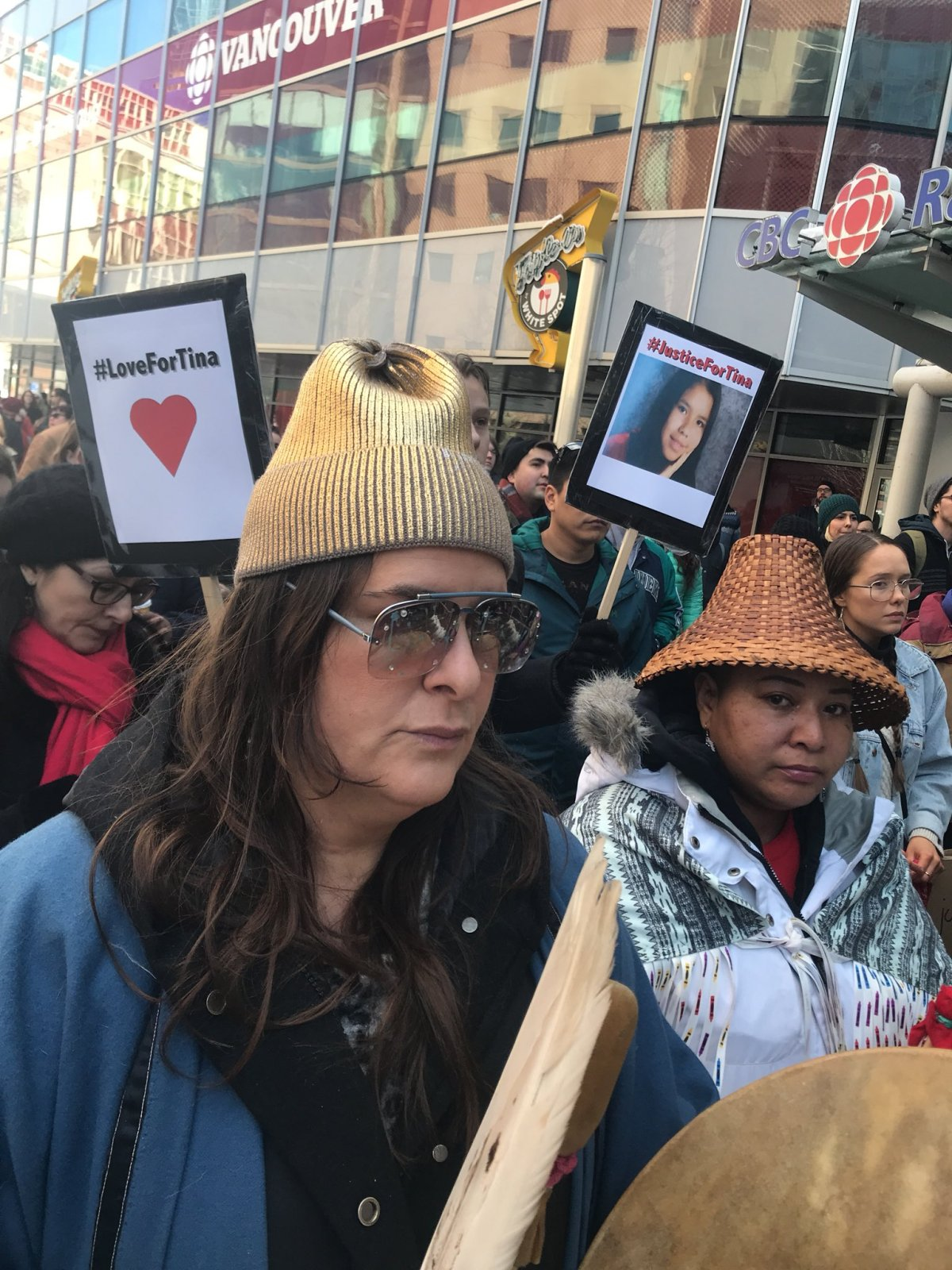 Dozens marched through downtown Vancouver on Saturday asking for the federal government to make changes to protect Indigenous people following the acquittal of Raymond Cormier.