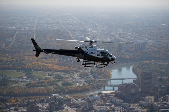 FILE: The Edmonton Police Service's Air 1 helicopter.