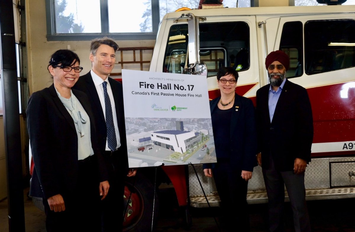 """The city says the new fire hall will be the first """"Passive House"""" fire hall in Canada."""