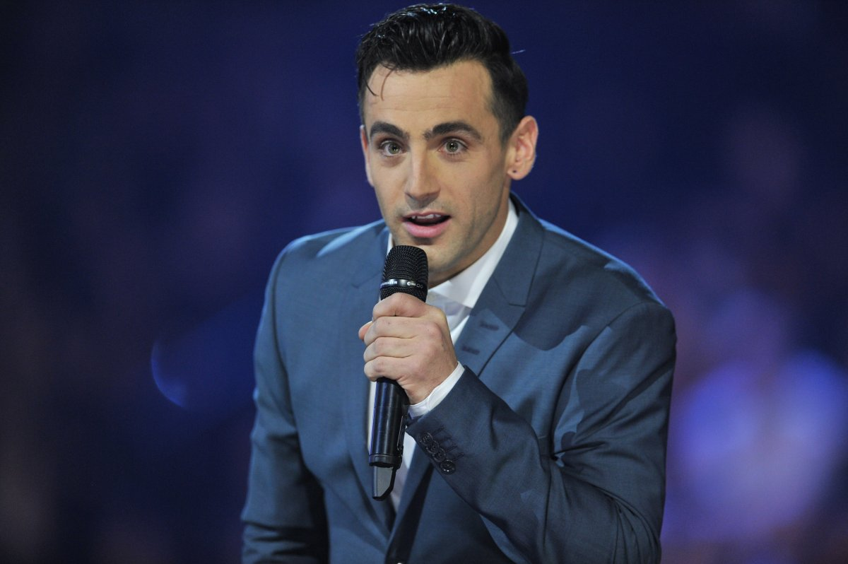 Jacob Hoggard of Hedley hosts the 2015 JUNO Awards at FirstOntario Centre on March 15, 2015 in Hamilton, Canada.