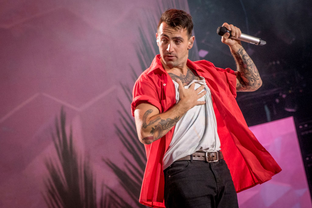 Jacob Hoggard of Hedley performs at We Day Canada at Parliament Hill on July 2, 2017, in Ottawa.