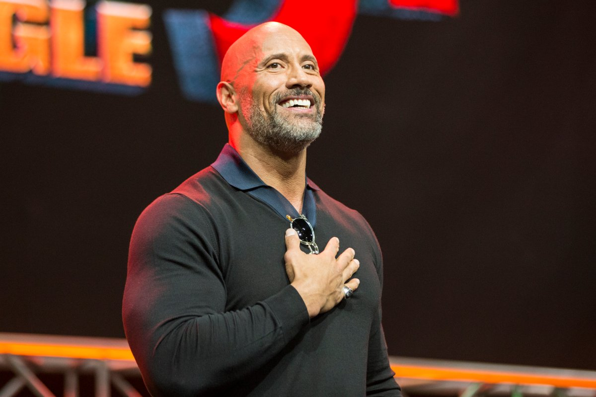 Dwayne 'The Rock' Johnson onstage at Los Angeles Comic-Con on October 28, 2017.