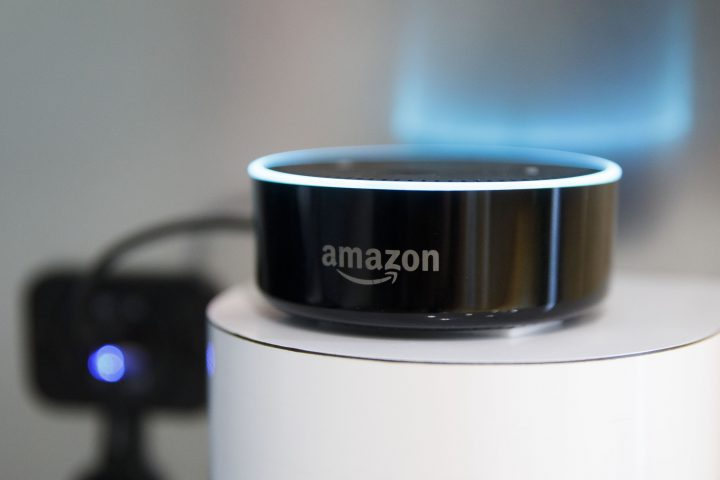 An Amazon.com Inc. Echo Dot device is displayed at the 2018 Consumer Electronics Show in Las Vegas.