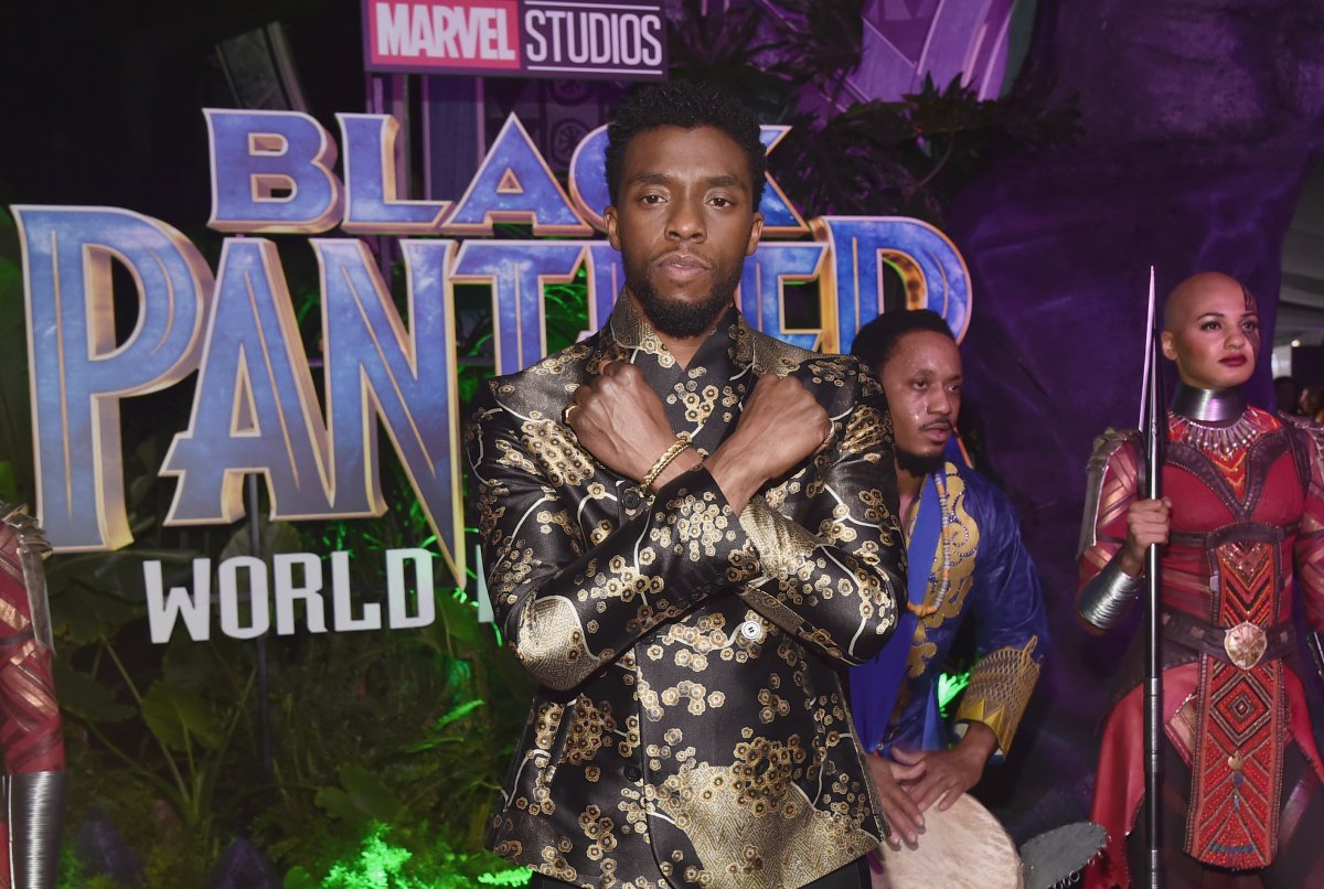Actor Chadwick Boseman at the Los Angeles World Premiere of Marvel Studios' 'BLACK PANTHER' at Dolby Theatre on January 29, 2018 in Hollywood, California.