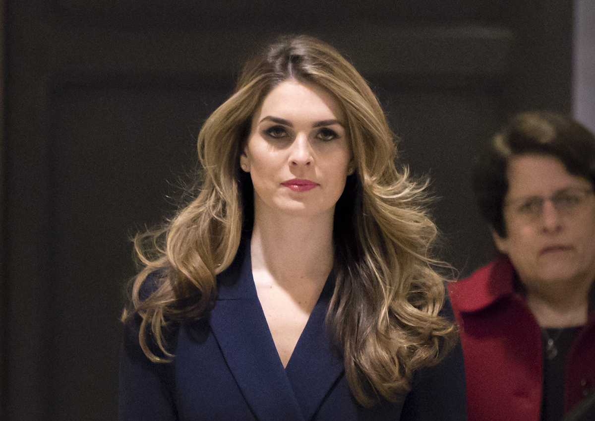 White House Communications Director Hope Hicks, one of President Trump's closest aides and advisers, arrives to meet behind closed doors with the House Intelligence Committee, at the Capitol in Washington, Tuesday, Feb. 27, 2018.
