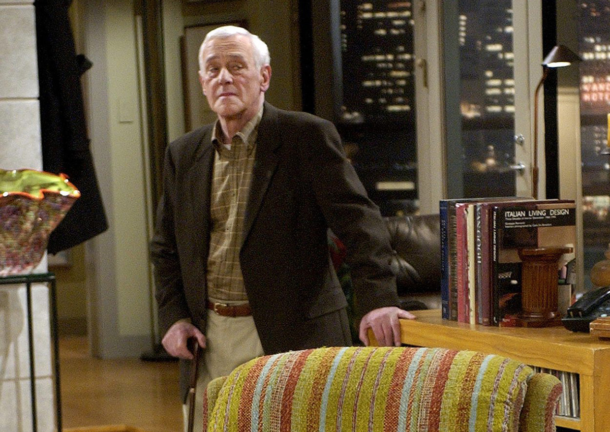 "In this March 23, 2004 file photo, John Mahoney, who stars as Martin Crane, appears on the set during the filming of the final episode of ""Frasier"" in Los Angeles."