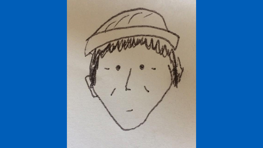 Police in Pennsylvania used this sketch to identifyh a.