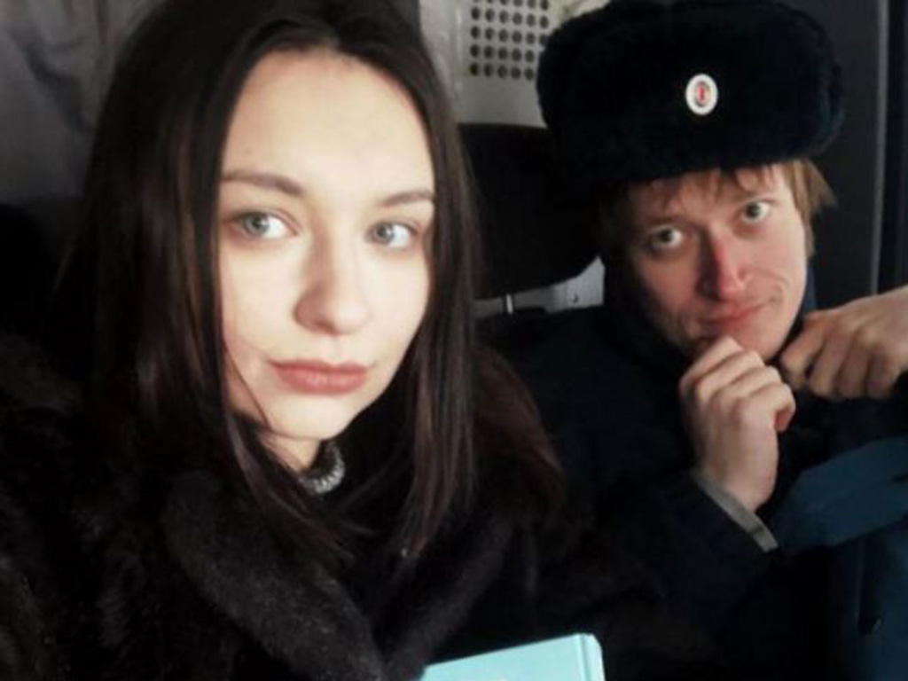 Two members of Pussy Riot, Olya Borisova (L) and Sasha Sofeev (R), who are reportedly missing.