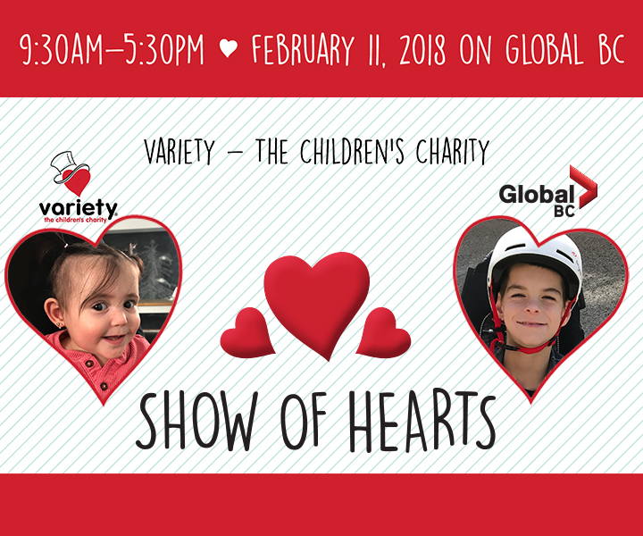 The Variety Show of Hearts takes place Sunday, Feb. 11, 2018.