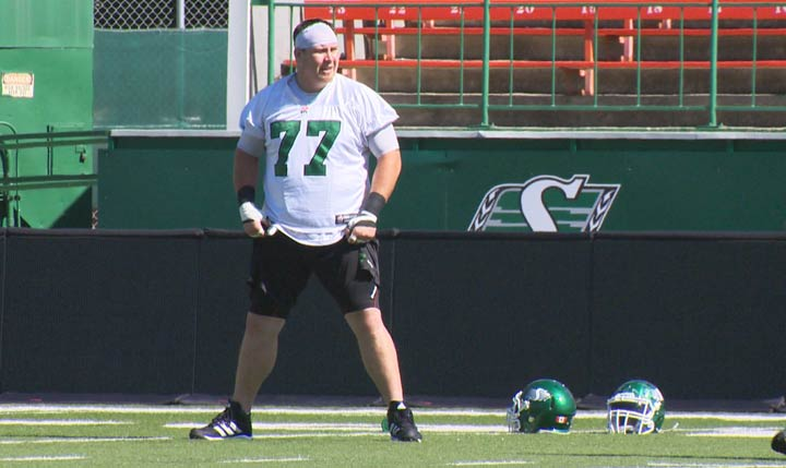 Roughriders Dan Clark was involved in a single-vehicle collision outside of Saskatoon on Tuesday afternoon.