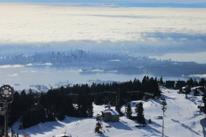 Grouse Mountain looking towards downtown Vancouver.