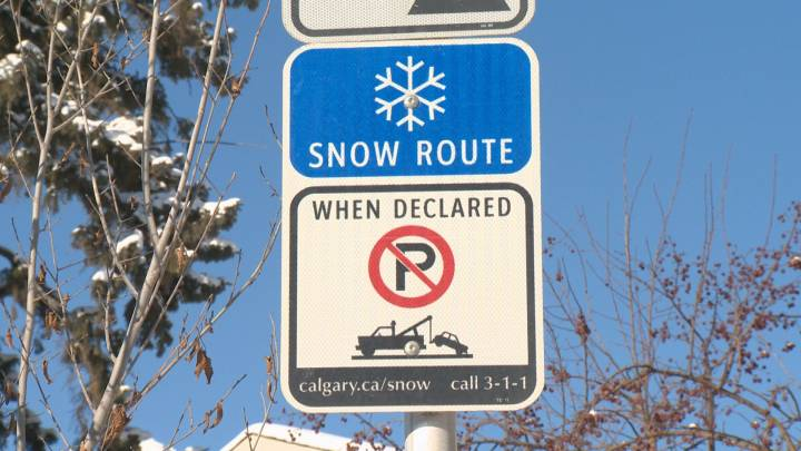 A snow route parking ban will go into effect on Saturday at 10 a.m.