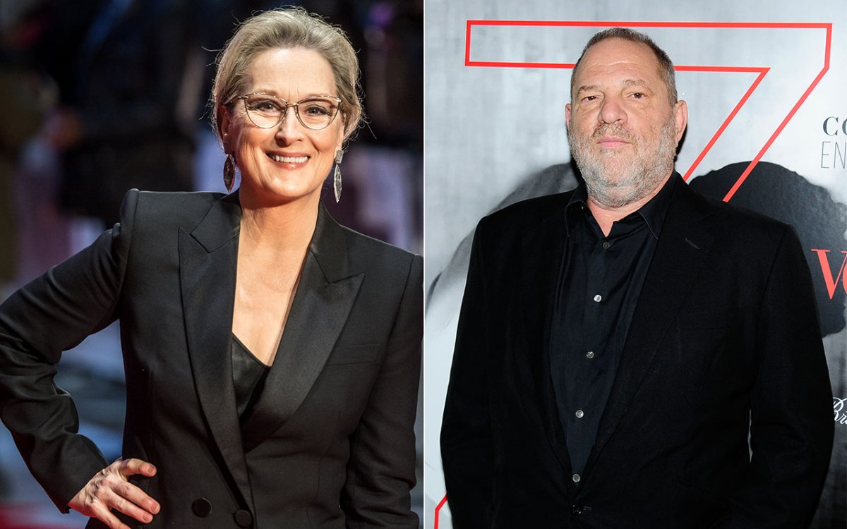 (L-R): Meryl Streep and Harvey Weinstein.