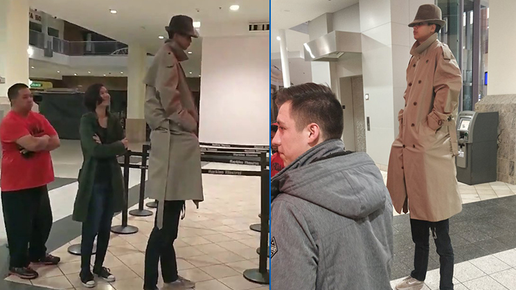 "Two friends tried the ""tall man"" trick to try and get into Black Panther for half the price."