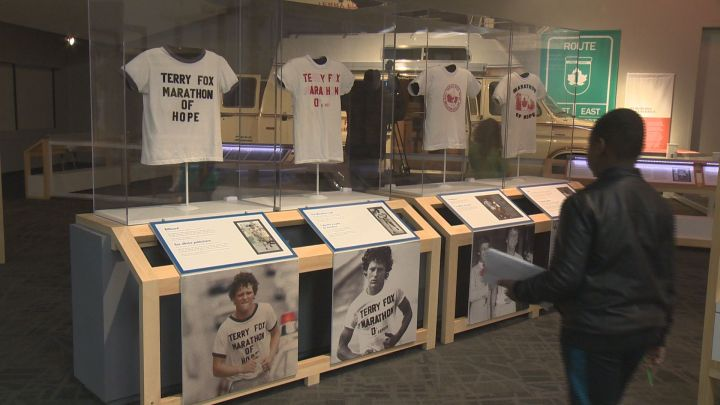 """The """"Terry Fox - Running to the Heart of Canada"""" exhibit runs at Edmonton's Telus World of Science from Feb. 16 to Sept. 16."""