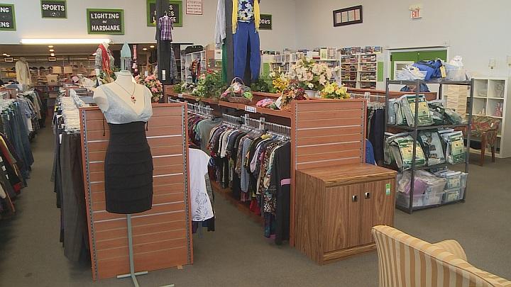 Mission Thrift Store in Lethbridge, Alberta.