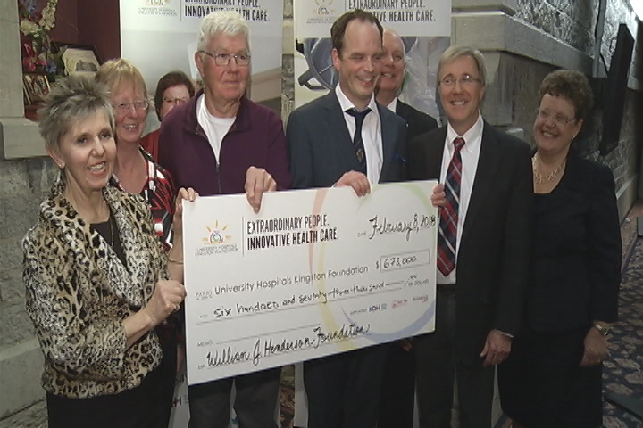 The W. J. Henderson Foundation donated more than $670,000 to Kingston hospitals on Thursday. The majority of the funds will be used for new atrial fibrillation research.
