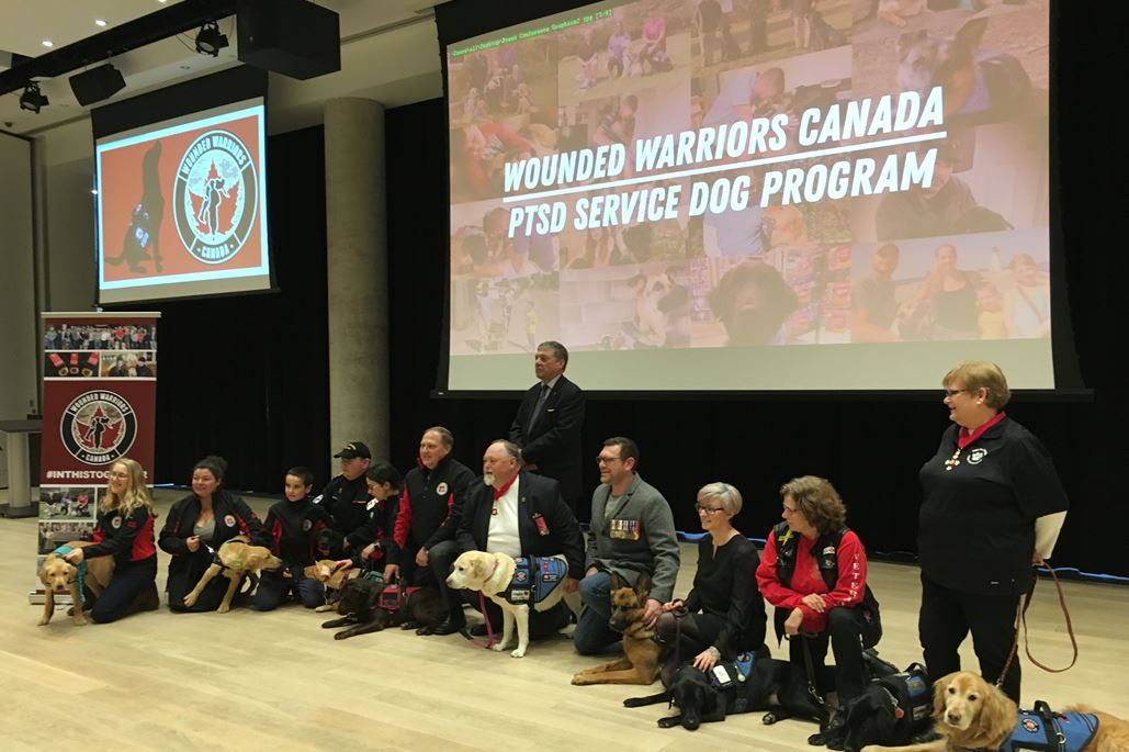 Wounded Warriors Canada announced the launch of the Wounded Warriors Canada PTSD Service Dog Program on Feb. 6, 2018 in Halifax.