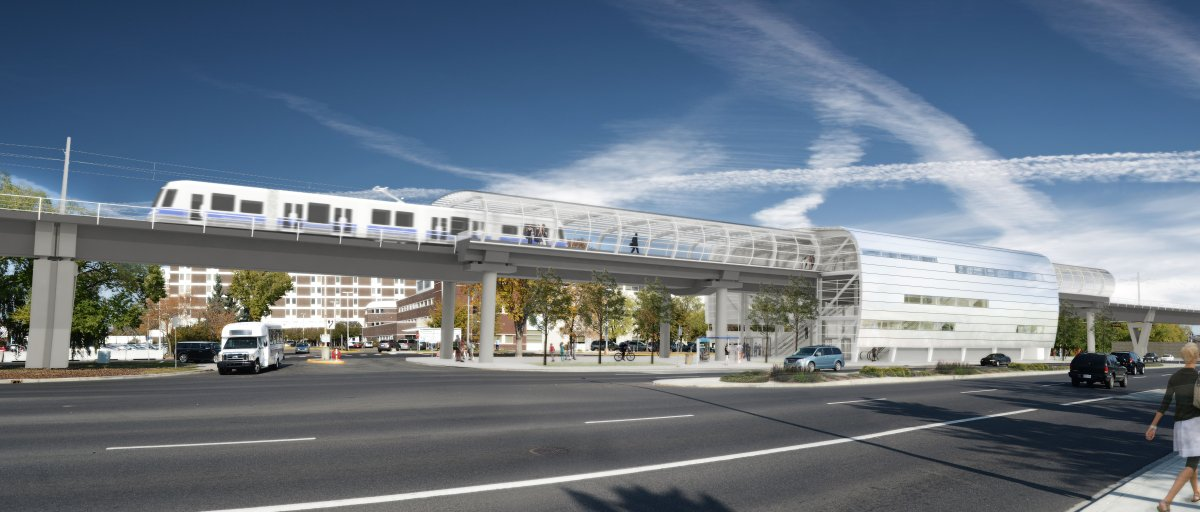 West LRT renderings of the Misericordia Station supplied by the City of Edmonton. March 13, 2018.