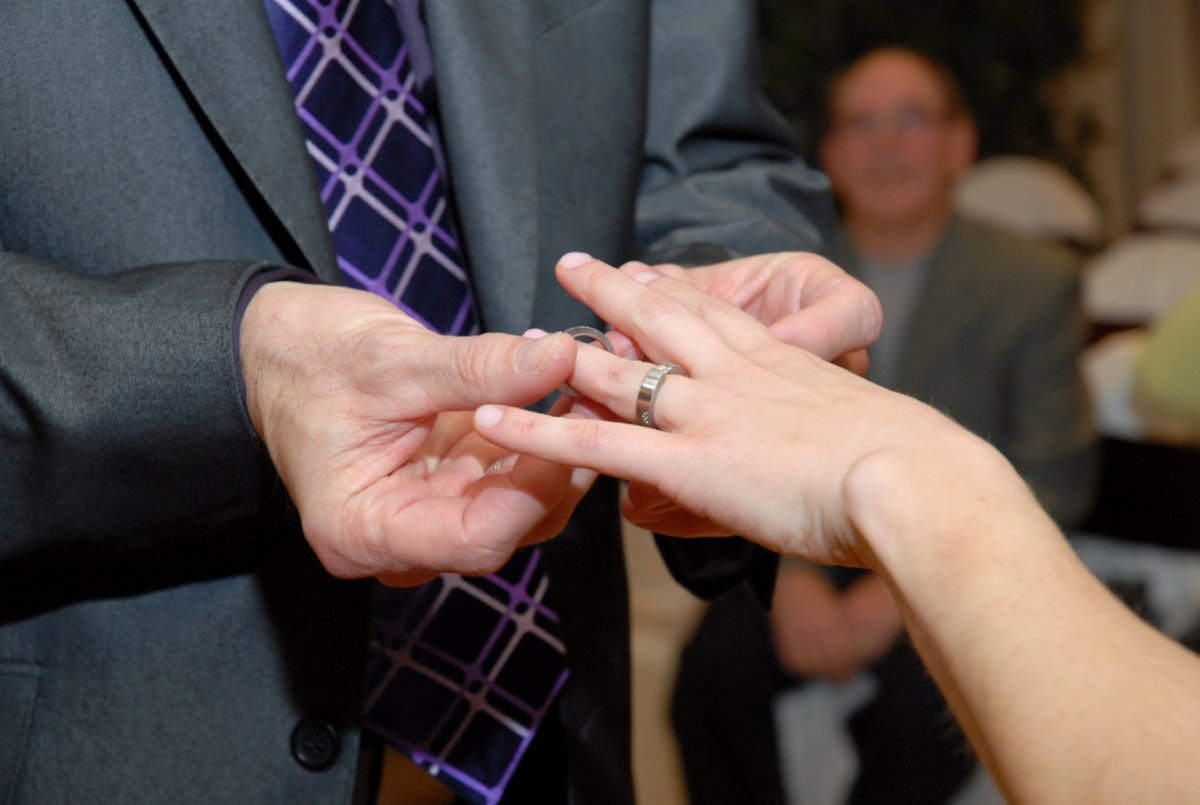 """A woman on Twitter asked: """"I'd really like to hear the reasoning behind women who won't take their husband's last name."""" Now, it's a hot topic again. When  I got married in Las Vegas, I accepted the ring, but not a new last name."""
